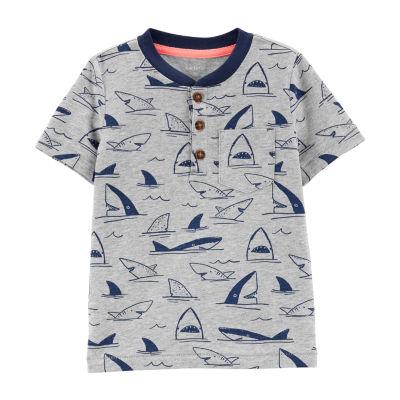 Carter's Round Neck Short Sleeve T-Shirt-Baby Boys