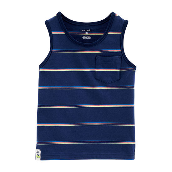 Carter's Boys Round Neck Sleeveless T-Shirt-Baby