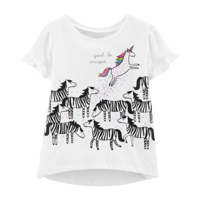 Carter's Girls Round Neck Short Sleeve Graphic T-Shirt