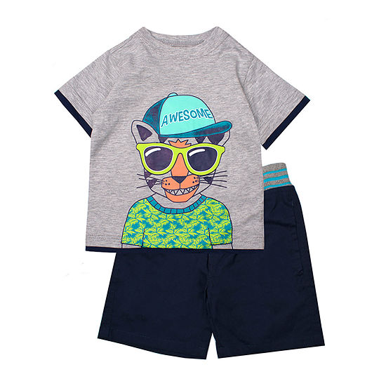 Little Rebels 2 Pc Short Set Toddler Boys
