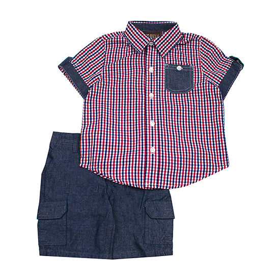 Little Rebels 2-pc. Short Set Toddler Boys