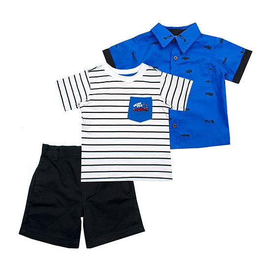 Little Rebels 3-pc. Short Set Toddler Boys