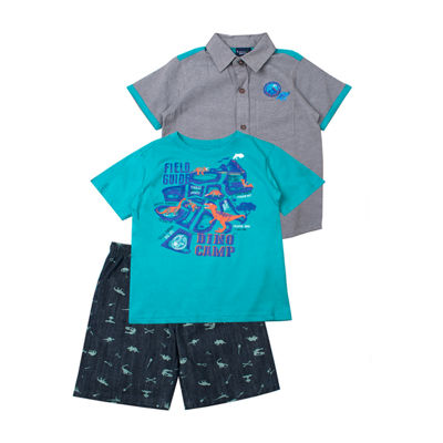 Little Rebels 3-pc. Short Set Toddler Boys