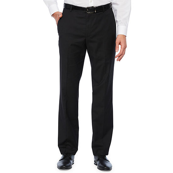 Stafford Mens Straight Fit Flat Front Pant