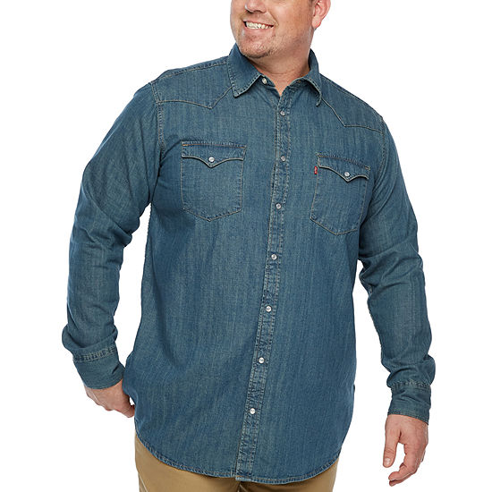 Levi's® Long Sleeve Button-Front Shirt-Big and Tall