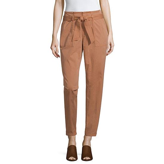 Arizona Womens Straight Fit Tapered Trouser Jean - Juniors