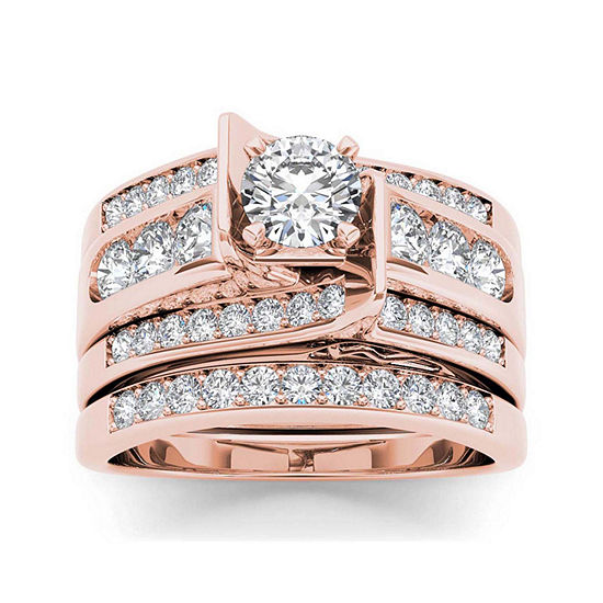 1 1/4 CT. T.W. Diamond 14K Rose Gold Bridal Set1 1/4 CT. T.W. Diamond 14K Rose Gold Bridal Set