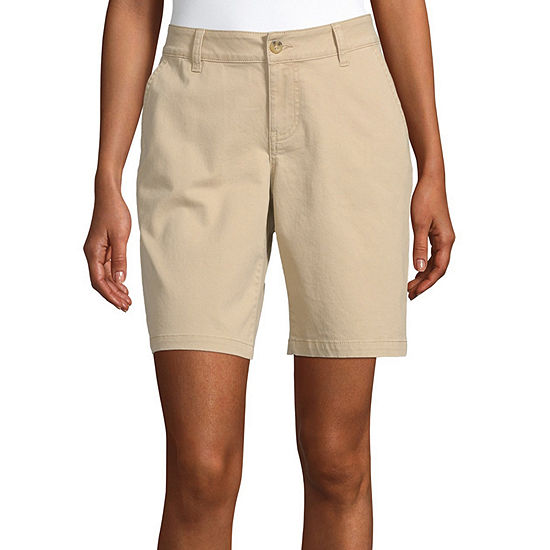 "a.n.a Womens 9"" Chino Bermuda Short"