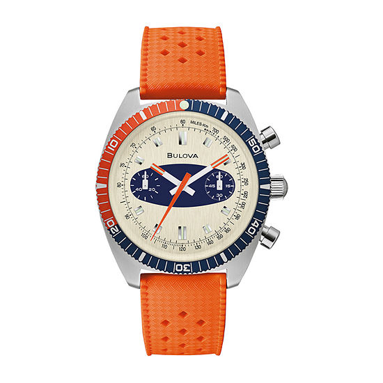 Bulova Archive Series Mens Orange Strap Watch-98a254