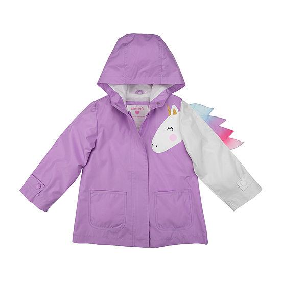 Carter's-Baby Girls Water Resistant Midweight Raincoat