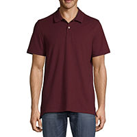 Deals on St. Johns Bay Premium Stretch Mens Short Sleeve Polo Shirt