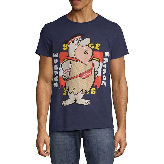 The Flinstones Mens Crew Neck Short Sleeve Graphic T-Shirt