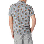 Unionbay Mens Short Sleeve Abstract Button-Down Shirt