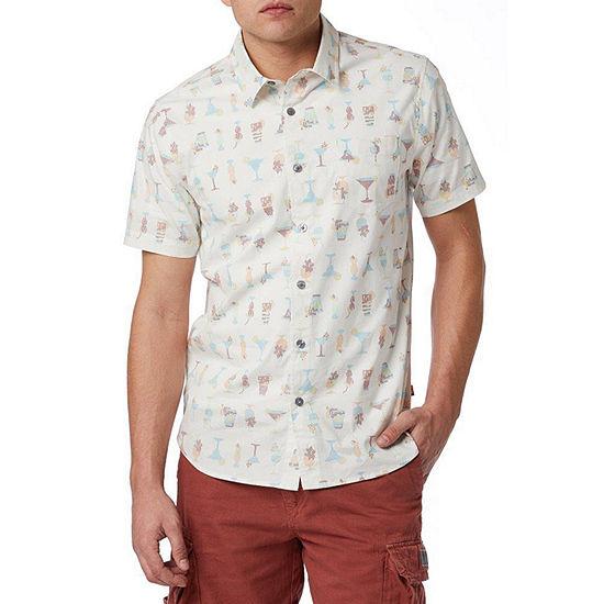 Unionbay Mens Short Sleeve Button-Front Shirt