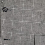 Stafford Mens Windowpane Slim Fit Suit Jacket-Slim