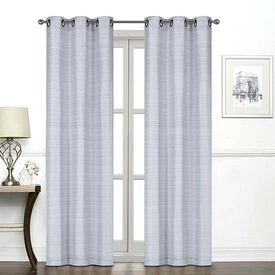 Regal Home York Light-Filtering Grommet-Top Single Curtain Panel