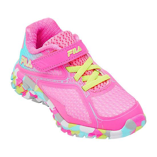 Fila Primeforce 5 Strap Toddler Girls Running Shoes