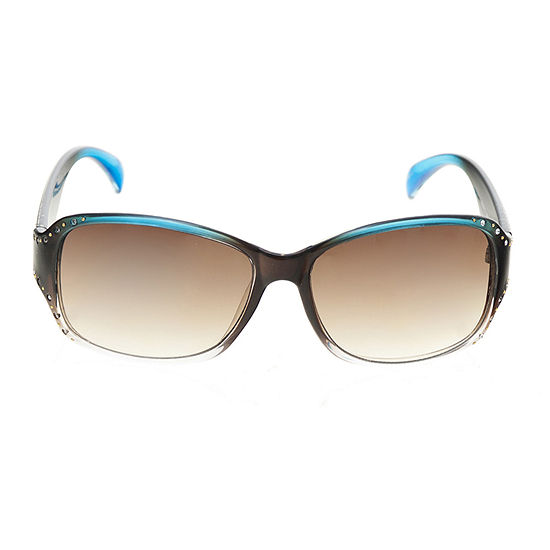 a.n.a Plastic Rectangle With Studs And Stones Womens Sunglasses