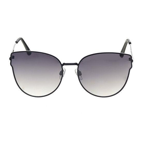 Arizona Black Metal Square Womens Sunglasses