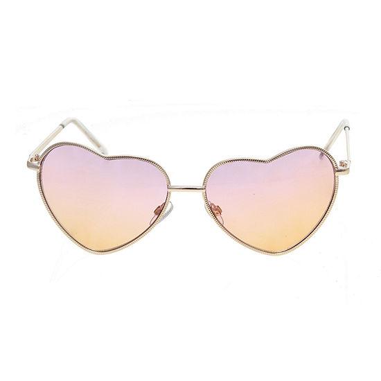 Arizona Metal Hearts With Sunset Lens Womens Sunglasses