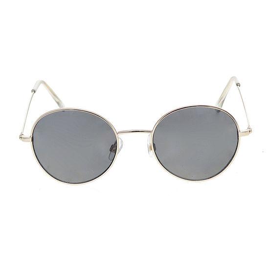 Arizona Gold Metal Round Womens Sunglasses