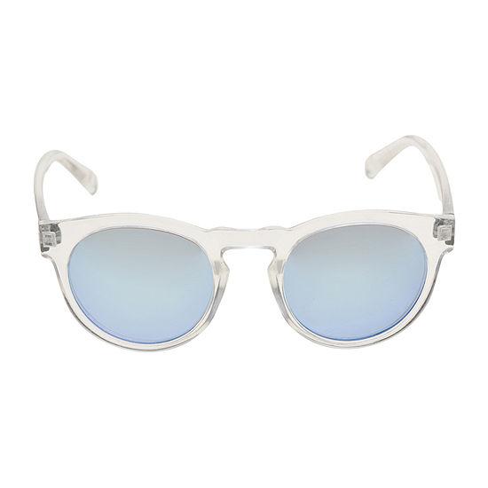 Arizona Metal Round Blue Light Womens Sunglasses