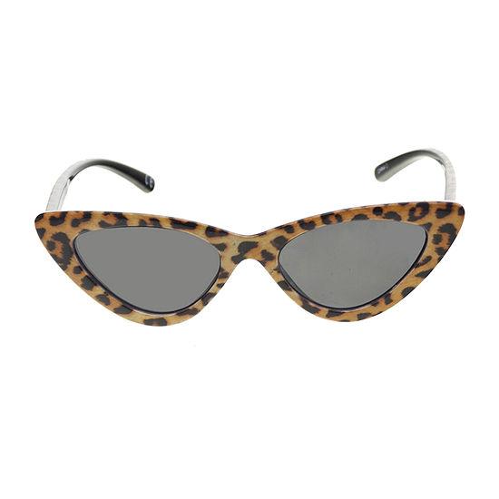 Arizona Leopard Small Cateye Womens Sunglasses