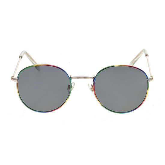 Arizona Small Round With Rainbow Frame Womens Sunglasses