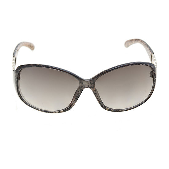 Mixit Plastic Snake Round With Metal Chain Temple Womens Sunglasses