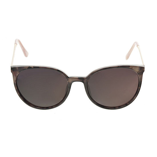 Foster Grant Plastic Round With Metal Temples Womens Sunglasses