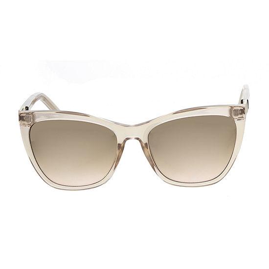 Worthington Plastic Angular Cateye With Zebra Temples Womens Sunglasses