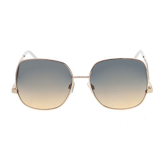 Worthington Metal Square With Drop Temple Womens Sunglasses