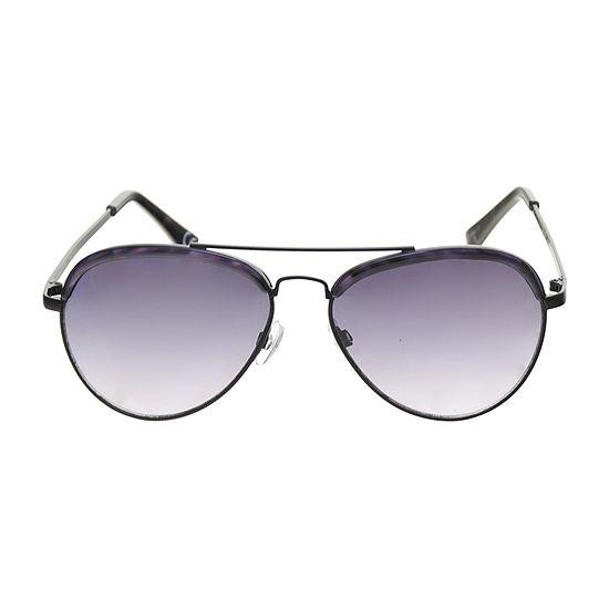Worthington Aviator With Plastic Along Brow Womens Sunglasses