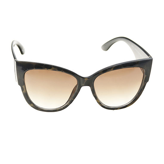 Worthington Plastic Leopard Cateye Womens Sunglasses