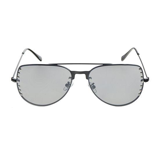 Worthington Metal Aviator With Studs Womens Sunglasses