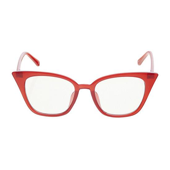 Worthington Blue Light Square Cat Womens Sunglasses