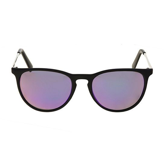 Xersion Metal And Plastic Keyhole Round Womens Sunglasses