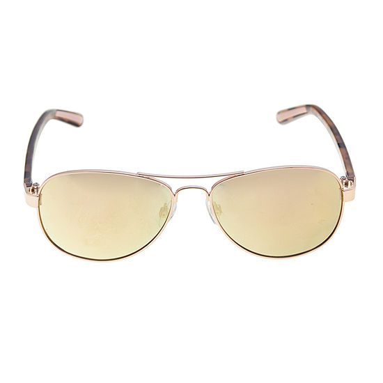 Xersion Rose Gold Aviator Womens Sunglasses