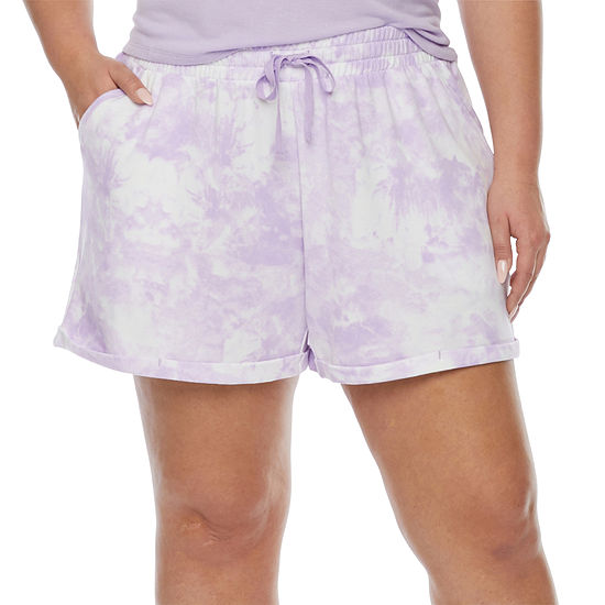 Ambrielle Womens - Plus French Terry Pajama Shorts