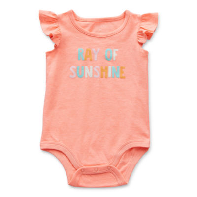 Okie Dokie Baby Girls Round Neck Sleeveless Bodysuit