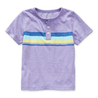 Okie Dokie Little Boys Short Sleeve Henley Shirt