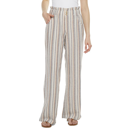Rewind Womens High Rise Wide Leg Palazzo Pant-Juniors