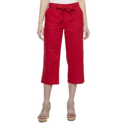 Liz Claiborne Linen Crop - Plus