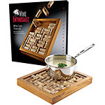 Wine Enthusiast® Wine Cork Mahogany Trivet Kit