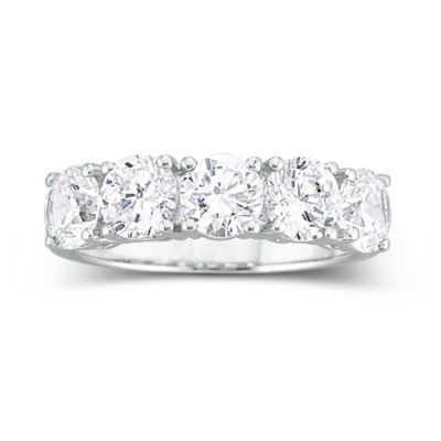 DiamonArt 2 12 CT TW Cubic Zirconia Wedding Ring JCPenney