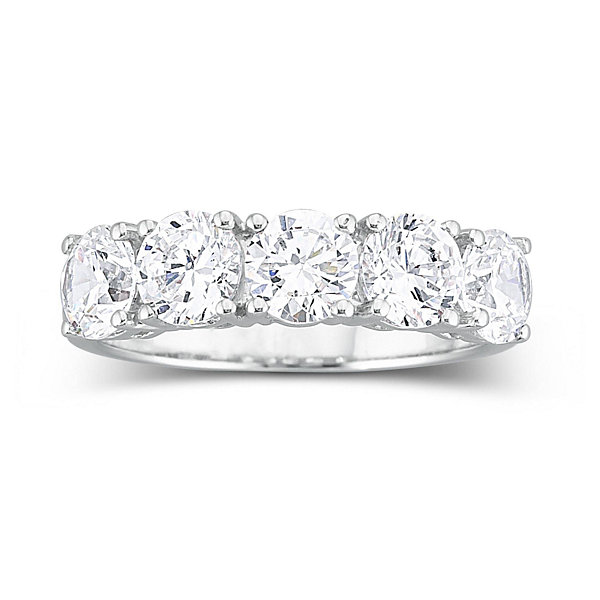 T W Cubic Zirconia Wedding Ring