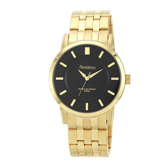 Armitron All Sport Mens Gold Tone Stainless Steel Bracelet Watch-20/4962bkgp