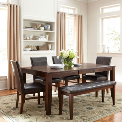 Landry 6-pc. Extendable Dining Set with 4 Parsons Chairs and Bench