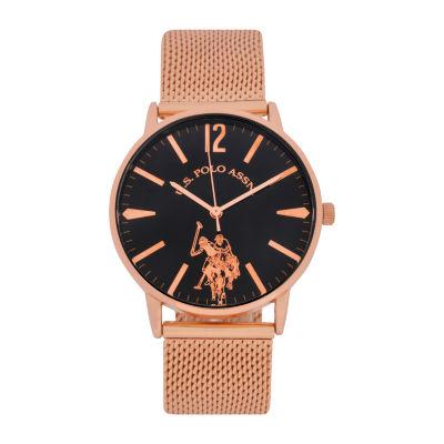 U.S. Polo Assn. Mens Rose Goldtone Strap Watch-Usc80511jc