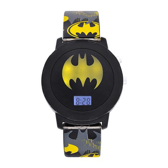 Batman Boys Digital Gray Strap Watch-Bat4609jc